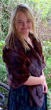 Luxurious Classic Schumacher Mink Fur Stole Wrap Dark Brown - Beautiful - Medium