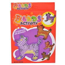 1Set Perler Beads Fusion Kit Dog Model Children Puzzle Activity DIY Template