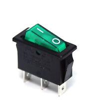 5pc Rocker Switch R12 On-Off 3P 16A 125/250VAC Cap= Green R121-12C-18 PRONIC