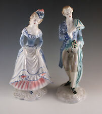 1940's GOLDSCHEIDER EVERLAST RENDEZVOUS FRENCH COUPLE LOUIS XV PAIR OF FIGURINES