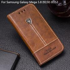 For Samsung Galaxy Mega 5.8 I9150 i9152 Flip Wallet Pu Leather Case Back Cover