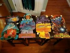 4 Atari SIGNS 1982 DOUBLE SIDED Battlezone Star Raiders Haunted House Asteroids