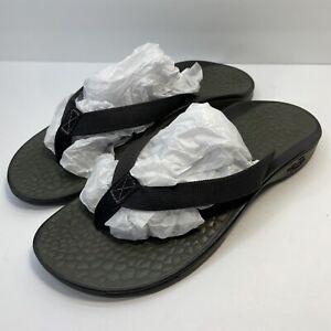 CHACO Black EcoTread Flip Flops Thongs Sandals Womens Sz 8 Great Cond.   SHPFREE