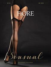 FIORE Diva Luxury 20 Denier Super Fine Decorative Cuban Heel Seamed Stockings