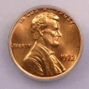 1972-P 1972 Lincoln Cent ICG MS64 RD Double Die DDO Beautiful flashy coin!