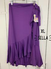 Lularoe XL Extra Large Bella Wrap Skirt Solid Purple NEW NWT