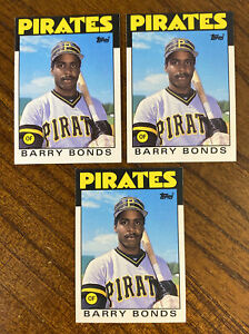 1986 TOPPS TRADED BARRY BONDS ROOKIE #11T RC LOT OF 3 NM-MT