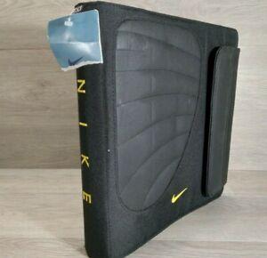 New Nike 3 Ring Binder Mead Trapper Keeper W/Folders School Original Black