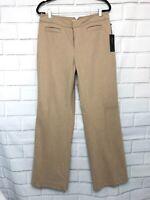 Banana Republic Women's Stretch Khaki Tan Wool Trouser Fit Pants Size 10 New