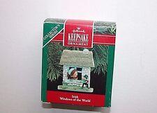 NEW Hallmark Keepsake Christmas Ornament Windows of the World Irish 1990 #6