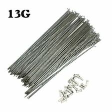 13G 2.2mm Bicycle Spokes Nipples MTB Bike 82-305mm J-bend Durable Spoke 36Pcs