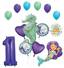 Mermaid Wishes and Seahorse 1st Birthday Party Supplies Balloon Bouquet