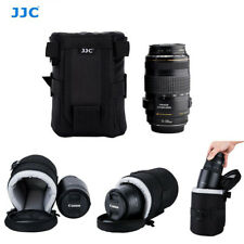 JJC Dlp-4 100 X 170 Mm Water Resistant Deluxe Lens Pouch With Strap - Black