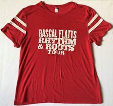 Rascal Flatts Rhythm and Roots Tour Size Xxl Red Shirt
