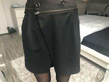 Jupe noire portefeuille courte ZERO de34 38 40 mini wrap black skirt 6 8