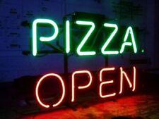 "Pizza Slice Open Neon Lamp Sign 17""x14"" Bar Light Real Glass Artwork Wall Decor"