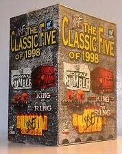 WWF WWE WWC Classic 5 Of 1998 Box Set New VHS Tape SummerSlam KOTR Survivor 98