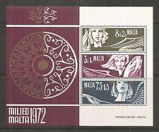 Malte 1972 noël minisheet sg, MS485 um/m nh lot 121L