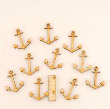 Ancla 3 cm 10-pc Decoración Para Lecho Mesa Maritim Mini Madera Mar Cumpleaños