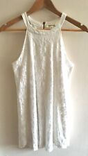 TK Maxx Monteau Size M 8-10 Ivory Halter neck Fit And Flare Dress