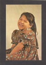 POSTCARD:  HAPPY GIRL AT ST. JOSEPH'S INDIAN SCHOOL - CHAMBERLAIN, SOUTH DAKOTA