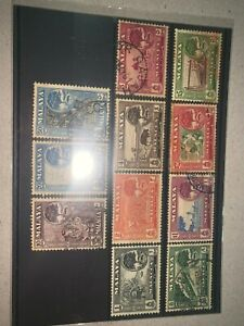 Malaysia malaya 1957-1961 melaka malacca 11pcs from 1 cents to $5 used