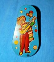 Vintage Tin Litho Mexican Party Noisemaker US Metal Toy Mfg