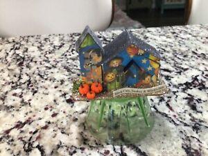 MINIATURE HALLOWEEN HOUSE Tim Holtz Paper Village DECOR ORNAMENT #113 OOAK