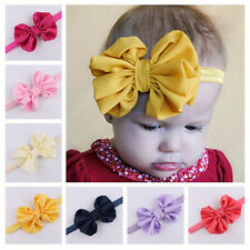 Fashion Baby Girls Satin Oversize Butterfly Bow Knot Headband Stretch Hair Band