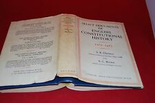 Selected Documents of English Constitutional History 1307-1485 Chrimes&Brown