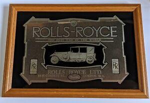 Vintage Rolls Royce Picture Mirror