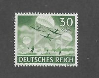 MNH stamp / 1943 /  PF30 + PF30 /  Wehrmacht Paratroops   WWII Third Reich Army