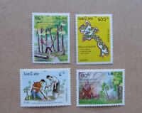 1989 LAOS PRESERVE FORESTS SET OF 4 MINT STAMP MNH