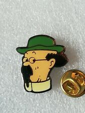 Pin's Pins Tintin et Milou bd Hergé comic strip Tournesol coinderoux