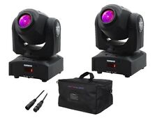 2 x Equinox Fusion Spot MAX MK2 30 W LED Moving Head DJ Discoteca pacchetto di illuminazione