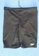 BOYS  SPEEDO BLACK  BOARD TYPE SWIM SHORTS AGE 12