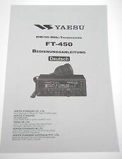 original Bedienungsanleitung/Handbuch für YAESU FT450 inkl. Circuit Diagramm