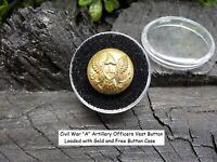 Old Rare Vintage Antique Civil War Relic Eagle Artillery Vest Button Gold Gild