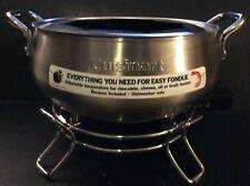 Cuisinart Stainless Steel Non-Stick CFO-3SS NEW Electric Fondue Pot