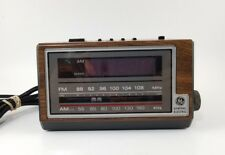 Vintage GE General Electric AM/FM Alarm Clock Radio Model 7-4601A Tested - WORKS