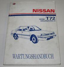 Werkstatthandbuch Nissan Bluebird Serie T72 Motor Bremse Stand März 1989!