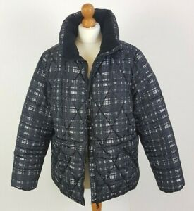 Marks and Spencer's Ladies Black Check Jacket Size UK 18