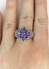 AA Tanzanite & Topaz Gemstone Ring, Size T/U, Gems Tv/ Gemporia