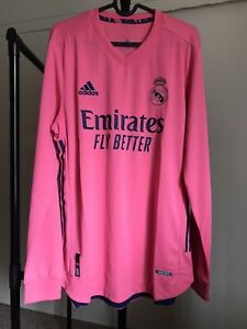 Adidas Real Madrid CF 2020-21 Authentic Away Long Sleeve Jersey