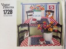 Vintage Vogue Kitty Cat & Spring Flowers Wall Hanging Quilt Pattern # 1728