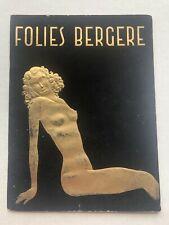 1950s Folies Bergere Paris Theater Program with Black Velvet Cover