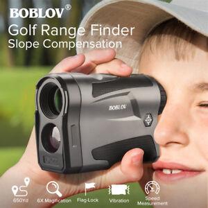 BOBLOV 6X Golf Range Finder With Slope Compensation Flag-Lock 600m Telescope
