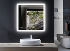 Mugo Bath Bathroom Vanity LED Mirror,Square with defogger&clock,29*29,waterproof