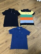 RALPH LAUREN & LACOSTE Boys Polo Shirts T-Shirt Bundle Size 7 Years Age 6-7-8 Yr