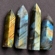 Natural Labradorite Moonstone Crystal Point Healing Stone Fluorite Wand Quartz